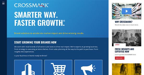CROSSMARK Social Media Sharing Website Page